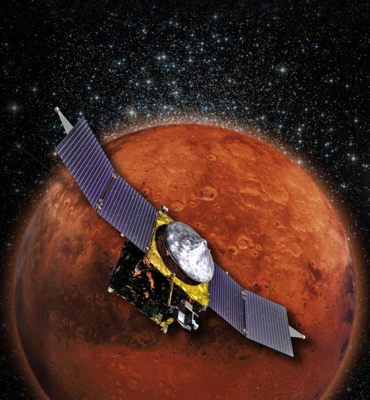 MAVEN is NASA's next Mars Orbiter and will investigate how the planet lost most of its atmosphere and water over time. Credit: NASA