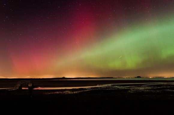 The aurora seen over Scotland on Feb. 27