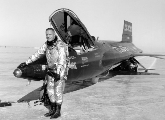 NASA astronaut Neil Armstrong earlier in his career, when he flew X-15s at the NACA High-Speed Flight Station (now called the NASA Armstrong Flight Research Center). Credit: NASA