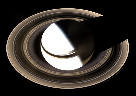 The Cassini spacecraft uses a Pi Transfer to navigate its path around Saturn. Credit: NASA.