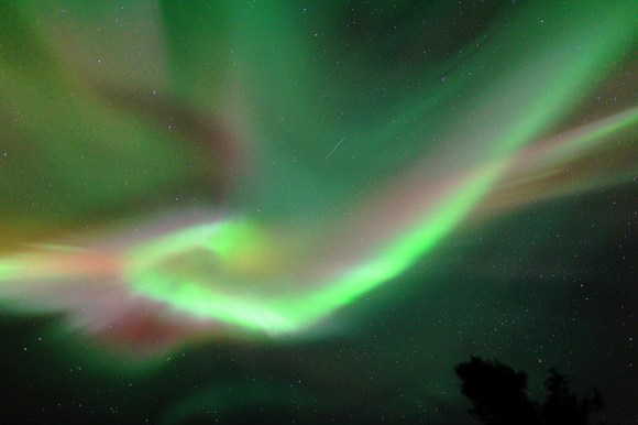 Aurora Borealis coronal display near Fairbanks Alaska, on March 25, 2014. Credit and copyright: John Chumack.