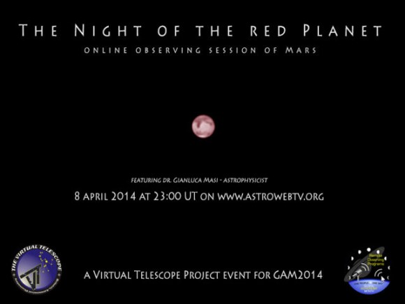 Coming to you on April 8th courtesy of the Virtual Telescope!