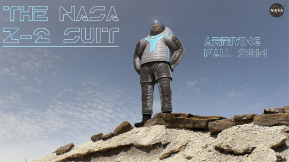 "The NASA Z-2 suit will incorporate the ""technology"" design the public voted on. Credit: NASA"