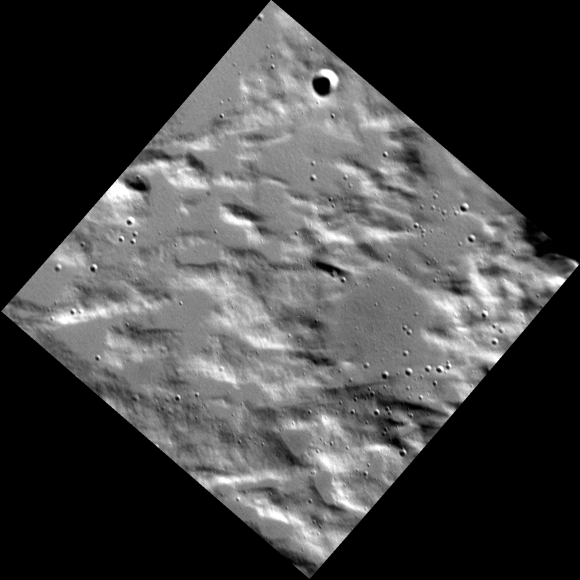 7 meter/pixel targeted observation of Mercury by the MESSENGER spacecraft