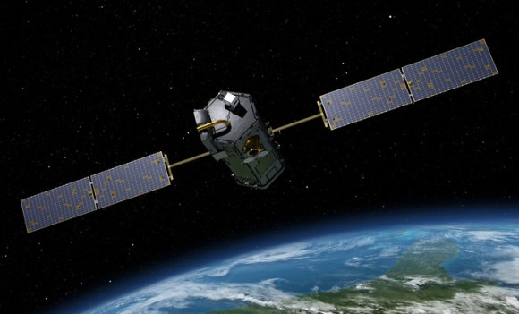 Artist's rendering of NASA's Orbiting Carbon Observatory (OCO)-2, one of five new NASA Earth science missions set to launch in 2014, and one of three managed by JPL. Image Credit:  NASA-JPL/Caltech