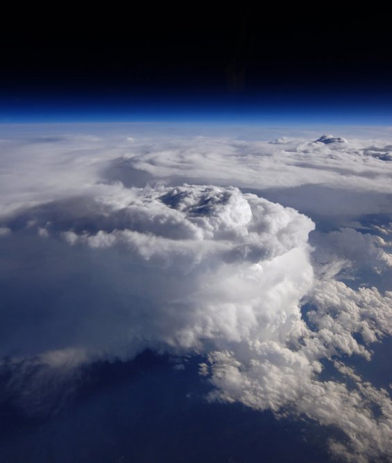 Giant storm clouds swirl over North Carolina (Credit: NASA / Stu Broce)