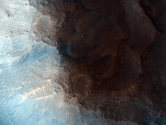 The 'face' on Mars, a popular landform in Cydonia Region on Mars. Credit: NASA/JPL/University of Arizona.