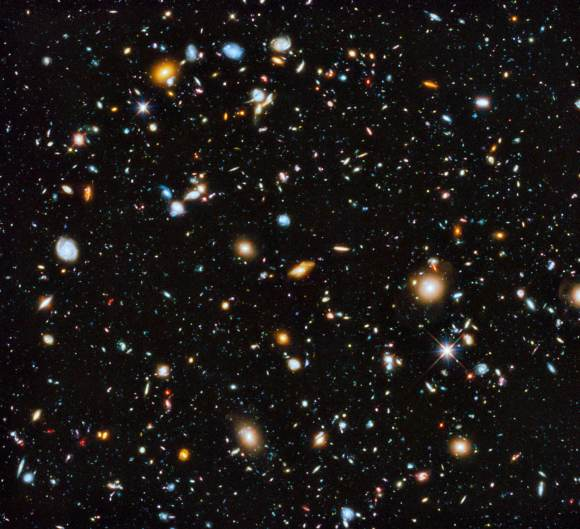 The Hubble Ulrta Deep Field seen in ultraviolet, visible, and infrared light. Image Credit: NASA, ESA, H. Teplitz and M. Rafelski (IPAC/Caltech), A. Koekemoer (STScI), R. Windhorst (Arizona State University), and Z. Levay (STScI)