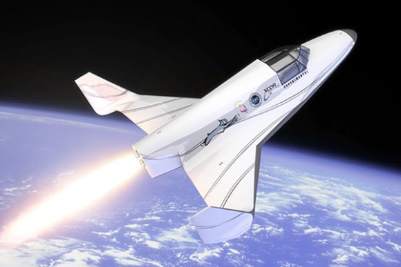 XCOR Aerospace's Lynx suborbital vehicle is designed to fly to 328,000 feet (Credit: XCOR)