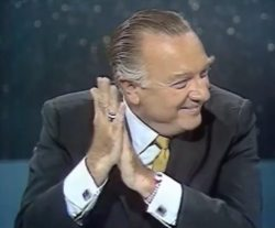 CBS broadcaster Walter Cronkite reacts moments after Apollo 11 landed on the moon on July 20, 1969. Credit: NASA/CBS/YouTube (screenshot)