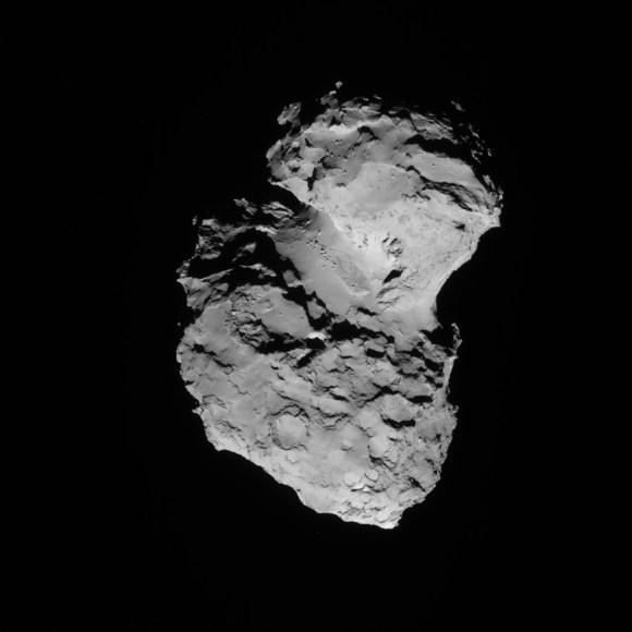 A picture of Comet 67P/Churyumov-Gerasimenko. Credit: ESA/Rosetta/NAVCAM