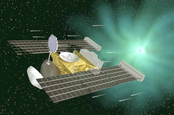 Artist's impression of the Stardust spacecraft. Credit: NASA/JPL-Caltech