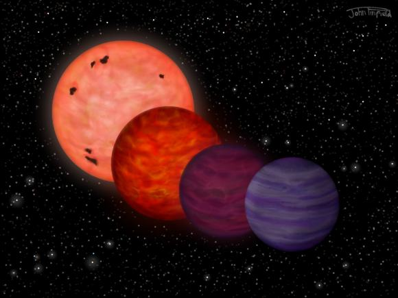 "How WISE 70304-2705 could have evolved from a star to a ""planet-like object"". Credit: John Pinfield,"