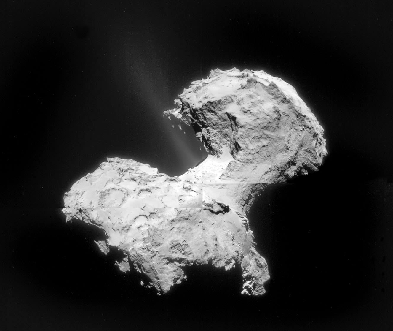 New Mosaic Reveals Jets Blasting from Rosetta's Comet Rosetta
