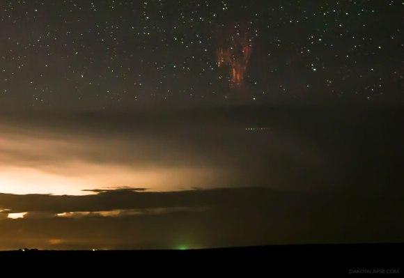 Sprite with Airglow and Gravity Waves over S