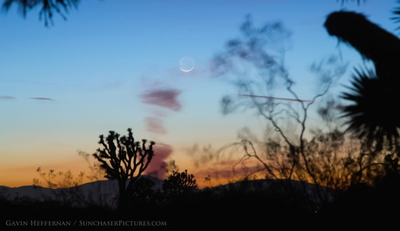 The February 2015 new Moon over Antelope Valley, California. Credit and copyright: Gavin Heffernan.