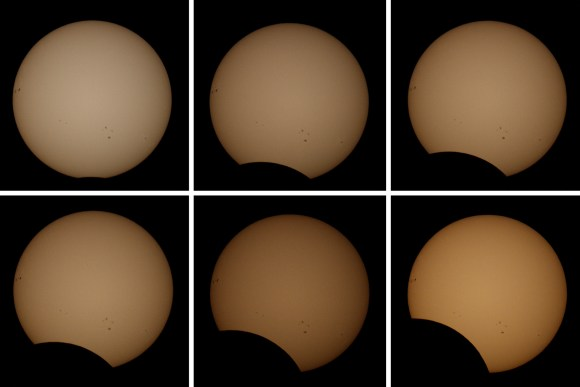 The March 11th, 2013 partial solar eclipse as seen from Saida, Lebanon. Image credit and copyright: Ziad El Zaatari