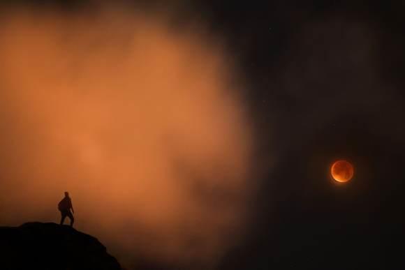 """The red Moon did not disappoint tonight,"" writes Arnar Kristjansson. Credit: Arnar Kristjansson"