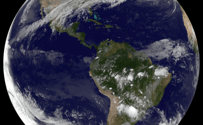 #HappyNewYear! NOAA's GOES East satellite captured this image of our home on the first day of #2016.   Credit: NOAA