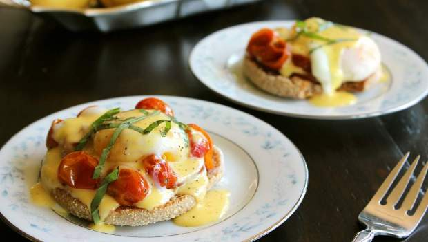 Roaster Tomato Eggs Benedict (University Foodie)