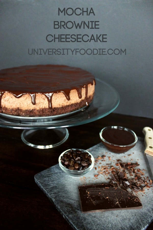 Mocha Brownie Cheesecake | universityfoodie.com