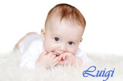 nice baby age of 6 months on white background