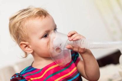 Inhalation on little child