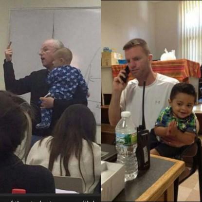insegnante braccio bambino