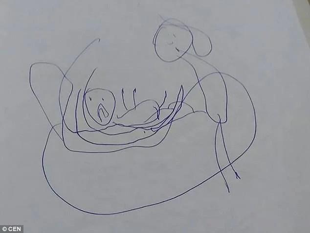 I disegni di una bambina di 5 anni smascherano un insospettabile pedofilo -FOTO