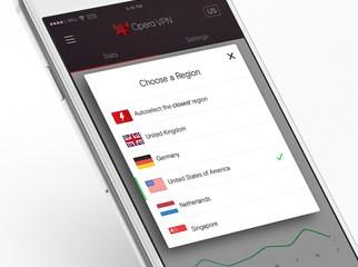 Opera -VPN app- iOS