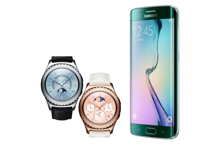 Samsung's GalaxyS6 edge and Gear S2