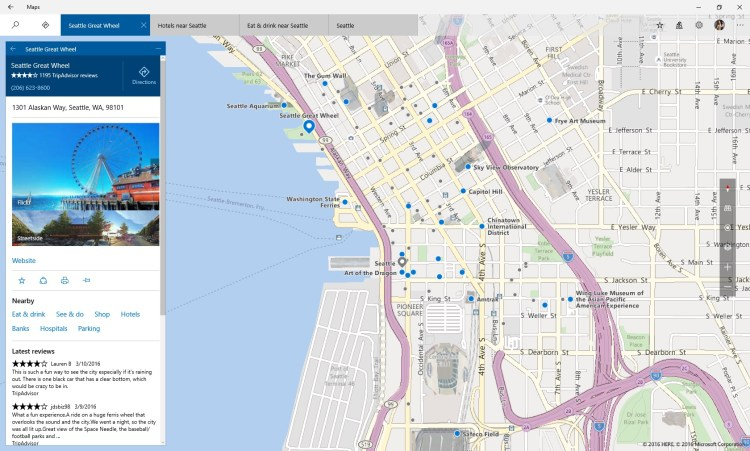 windows 10- Maps app