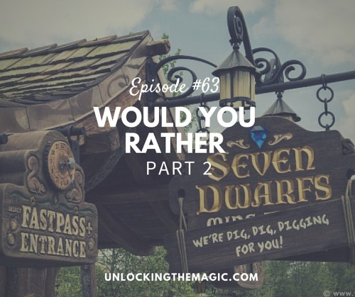 Disney would you rather