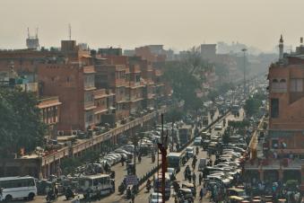 Tráfico en Jaipur