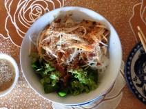 Noodles con cerdo estilo Hue