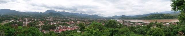 Vistas de Luang Prabang y el Mekong desde Phou Si