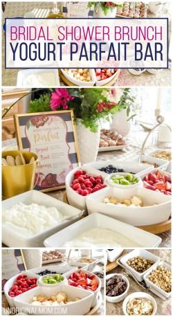 Grande I Love This Super Easy Shower Brunch Idea A Yogurt Parfait Brunch Bridal Shower Brunch Yogurt Parfait Bar Unoriginal Mom Bridal Shower Food Options Bridal Shower Food Table
