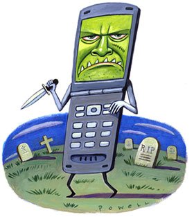 Advertencia de cáncer en celulares