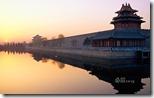 北京紫禁城的日出