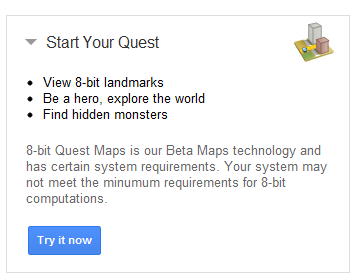 google-maps-8-bits-start-your-quest-unpocogeek.com