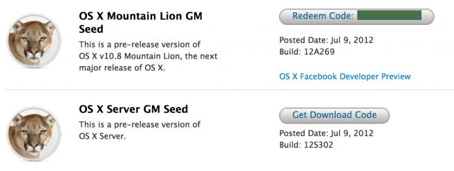 OS X Mountain Lion GM listo para su descarga