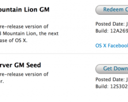 OS X Mountain Lion GM listo para su descarga