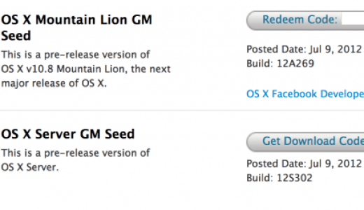 OS X Mountain Lion GM download