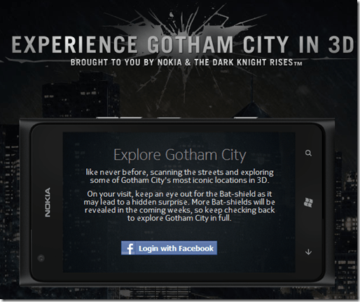 nokia and warner gotham city 3D interactive map - unpocogeek.com