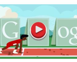 100 metros con vallas en el doodle interactivo de Google
