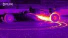 Autos de Formula 1 vistos con cámara térmica