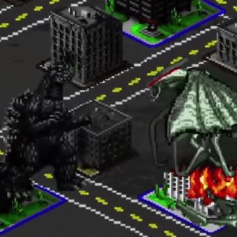 Godzilla 2014 estilo videojuego retro