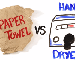 ¿Toallas de papel o secador de manos?