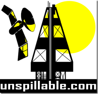 unspillable logo satellite
