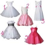 De jolies robes de petites filles pour notre joli jour